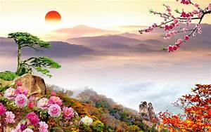 scenery flower wallpaper beautiful picturesque scenery ...