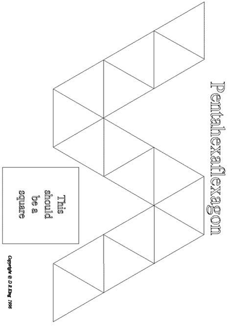 hexahexaflexagon template flexagons