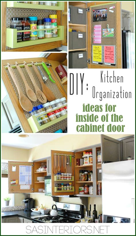 kitchen cupboard organizers ideas kitchen organization ideas for the inside of the cabinet doors burger