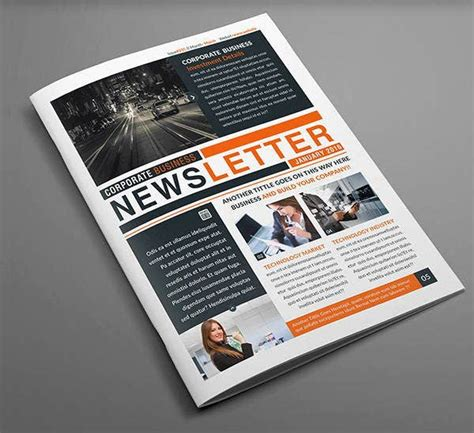 corporate newsletter templates printable psd ai