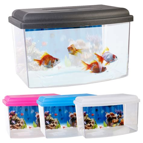 5 liter aquarium childs starter aquarium with lid handle 2 5 litre