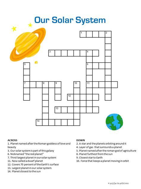 solar system crossword solar system  kids solar