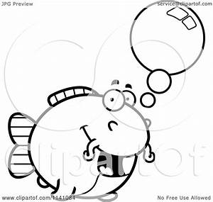 Cartoon Clipart Of A Black And White Talking Chubby ...