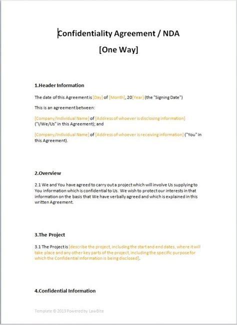 confidentiality agreement template eloquens