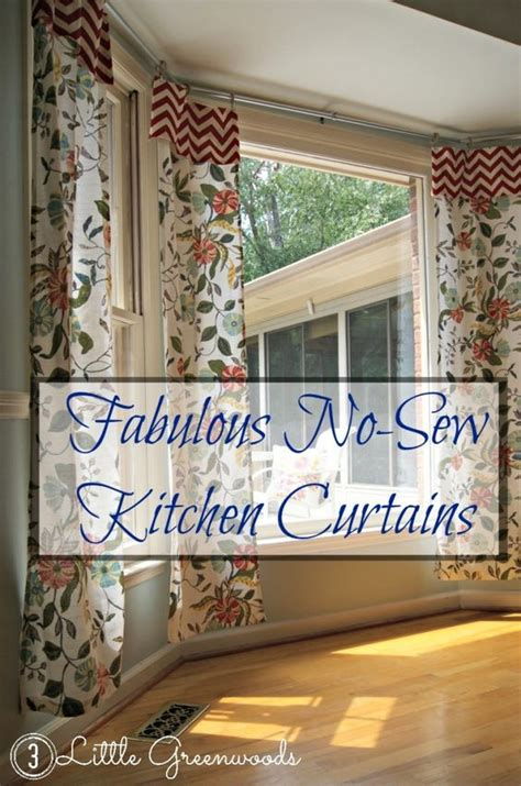 sewing drapes and curtains no sew kitchen curtains from tablecloths tablecloths