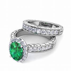 custom vintage inspired engagement ring bridal set with With build your own wedding ring set