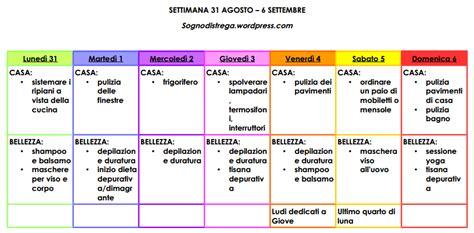 Come Organizzare Le Pulizie Di Casa Giornaliere by Calendario Delle Pulizie Di Casa Kw28 Pineglen