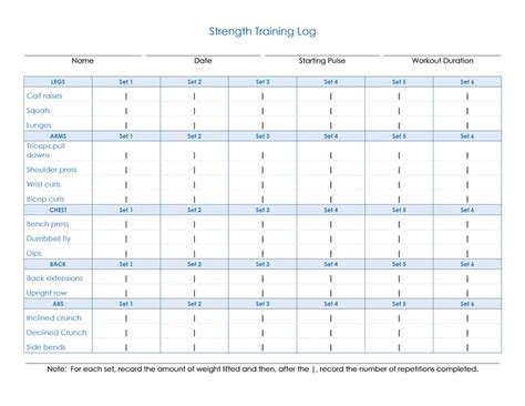 weight training log book daily strength training log office templates