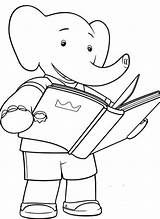 Babar Coloring Pages Triplets Elephant Simple Children Template Popular sketch template