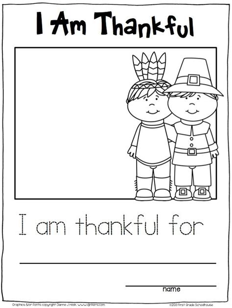 kindergarten printable thanksgiving writing festival