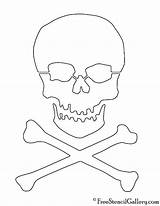 Skull Crossbones Stencil Printable Template Stencils Pirate Coloring Pumpkin Templates Carving Freestencilgallery Halloween Pages sketch template