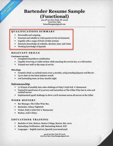 Qualifications For A Resume by Create A Resume Profile Steps Tips Exles Resume