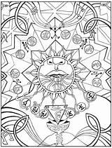 Bindu Amrita Nectar Referred Purification Vishuddha sketch template