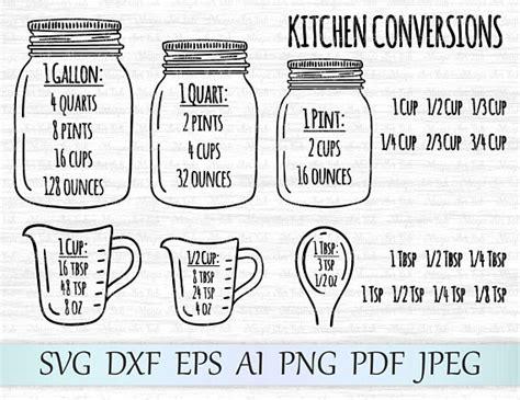 kitchen svg mason jar svg kitchen measurement svg