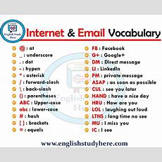 Internet & Email Vocabulary  English Study Here
