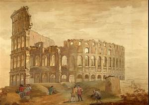 Colosseum in Rome painting Clerisseau Charles-Louis | Oil ...