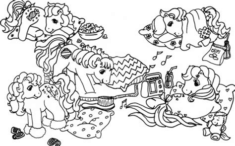pajama party coloring pages getcoloringpagescom