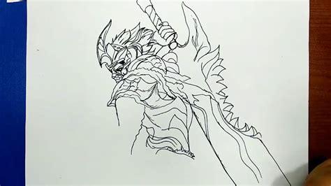 draw hanzo  akuma ninja  mobile legends bang