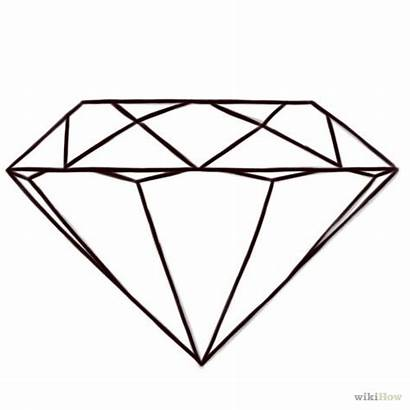 Diamonds Drawing Drawings Diamond Coloring Pages Diamante