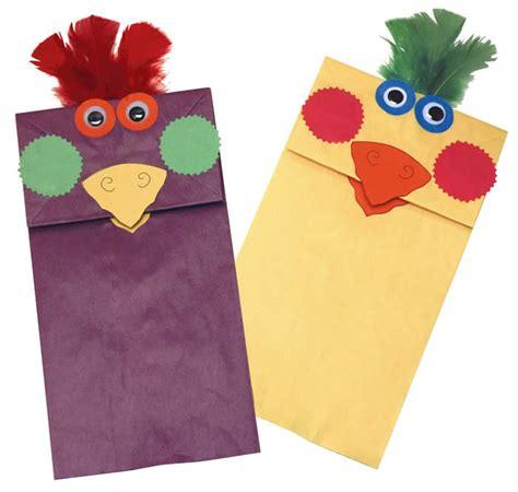 paper bag bird puppets fun family crafts
