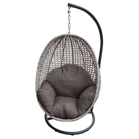 hanging egg chair granite wicker inspired