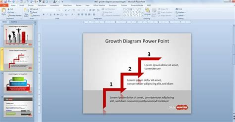 growth diagram template  powerpoint
