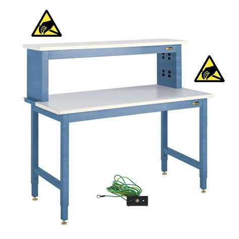 iac esd electronics workbench  instrument riser shelf