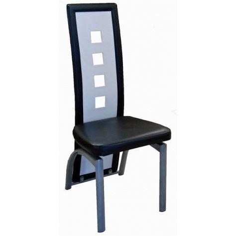 chaise blanche et noir lot de six chaises de salle à manger noir et bl achat