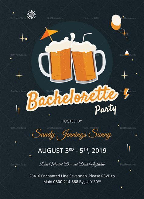 Cute Bachelorette Party Invitation Design Template in Word
