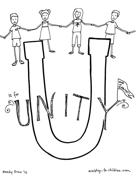 unity bible alphabet coloring page