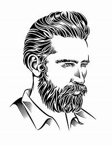 Man With Beard Illustration