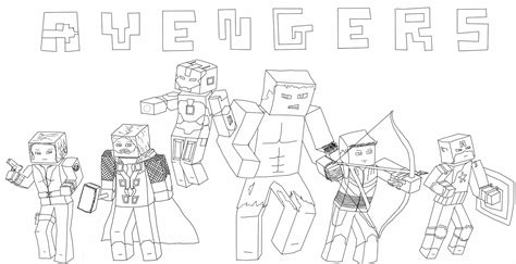 minecraft avengers coloring pages minecraft avengers by callenia on deviantart