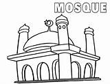 Mosque Coloring Pages Print Coloringway sketch template