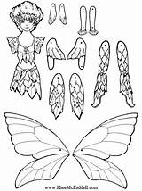 Puppet Coloring Paper Pages Puppets Crafts Fairy Dolls Craft Printable Cut Sheets Pheemcfaddell Nights Five Fairies Master Doll Template Articulated sketch template