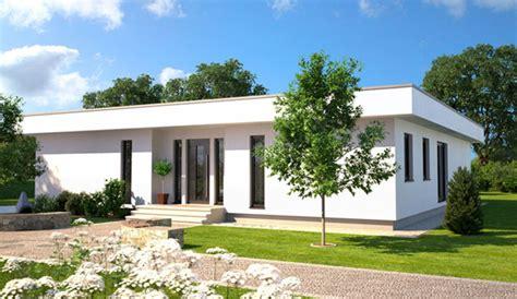 massivhaus bungalow   form im kubischen bauhausstil
