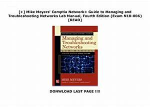 Mike Meyers U0026 39  Comptia Network  Guide To Managing And