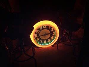 1950's Neon Gas Station Cleveland Clock Obnoxious Antiques