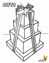 Coloring Gift Christmas Pages Wrapped Boxes Box Holiday Template Yescoloring Packages Jesus Merry Templates Jolly sketch template