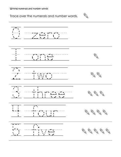 writing numbers words worksheets grade 1 save kindergarten