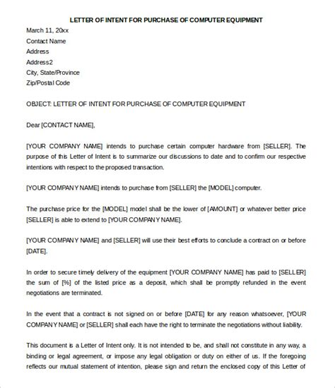 letter  intent  purchase bravebtr