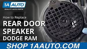 How To Replace Rear Door Speaker 02-08 Dodge Ram