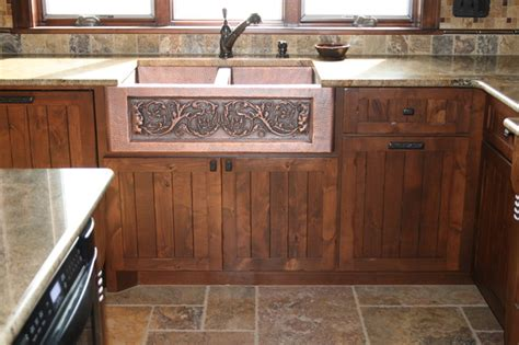 copper farmhouse sink eclectic kitchen  metro  modern design cabinetry