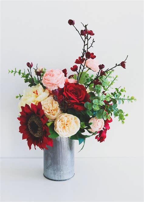 create your own silk flower arrangements with premium