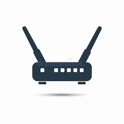 Wireless Wifi Vector Modem Router Icon Illustration