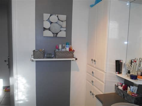 chambre peinte salle de bain photo 5 5 bande de peinture grise et