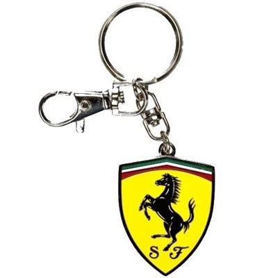 ferrari metal shield key chain fp