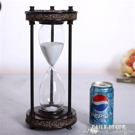 large hourglass sand timer vintage metal antique 1 hour hourglass 60 minutes large 6790