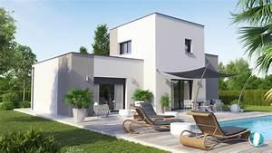Maison Design Demi  U00e9tage Toit Plat Clara