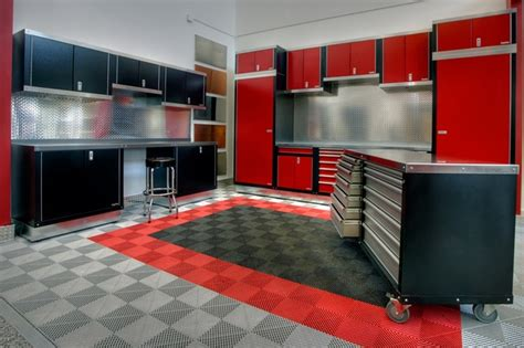 red and black garage cabinets garage cabinets how to choose the best garage storage