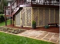 lattice under deck Under the Deck Storage Ideas | DIY